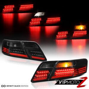 For 07-09 Toyota Camry [High Power] Black LED Tail Light Lamp 4PC Set Left Right