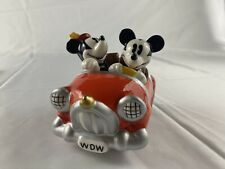 Salt and Pepper Shakers Disney Collectible Mickey Mouse Minney Mouse Set Car