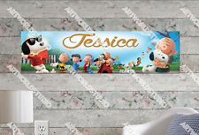 Personalized/Customized The Peanuts Movie Name Poster Wall Art Decoration Banner