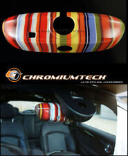 Multi Stripe Auto Dim Rear View Mirror Cover MK3 MINI Cooper F54 F55 F56 F57 F60