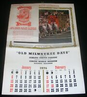 1974 Schlitz Brewing Circus World Museum Circus Calendar Circus Day Parade