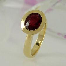 Ovale Echte Edelstein-Ringe aus Gelbgold mit Turmalin für Damen