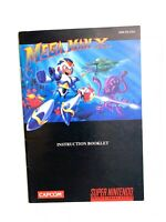 Mega Man X Super Nintendo SNES COLOR Instruction Manual Booklet Book Only! VGC!