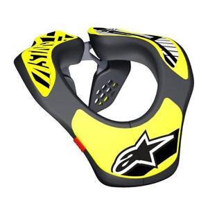 18 Alpinestars Youth Motocross / MX / Enduro Neck Support In Black / Yellow Fluo