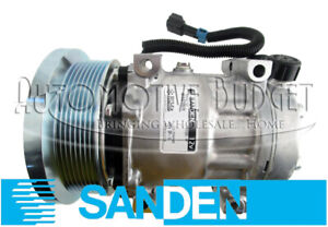 OEM A/C Compressor w/Clutch for Freightliner Trucks - Super Heavy Duty Version