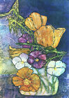 POPPIES and PANSIES Artist Signed Print Lynne French 8x11