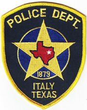 Italy Police Department Police Texas TX Patch