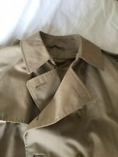 Mens Vintage Mark And Spencer Double Breasted Beige Trench Coat Chest 42