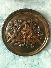 Franc-maçonnerie décoration murale ronde avec symboles