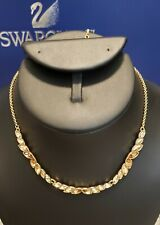 Swarovski Gold Crystal Necklace Jewelry 5030697 - Retired Nib