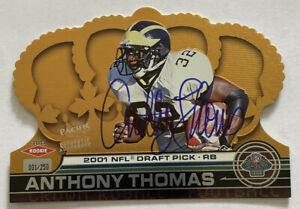 Anthony Thomas 2001 Auto 31/250 Pacific Crown Royale #145