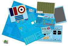 [FFSMC Productions] lot de 5 Decals transparents pour laser (Support bleu)