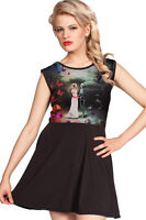 Till Death Us Do Part Gothic Alternative Sleeveless Skater Dress