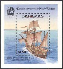 Bahamas 1991 Columbus/Boats/Transport/Sailing/Explorers/Exploration m/s (n31621)