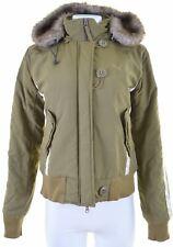 PUMA Womens Jacket UK 14 Medium Khaki  T104