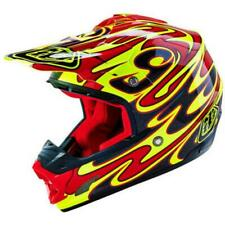 Troy Lee Designs SE3 Reflection Offroad MX Dirt Bike Helmet Yellow Red Medium