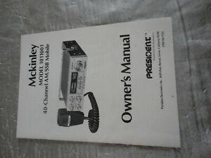 Dépliant CIBI CB McKINLEY Model 1011001 AM RARE ANCIEN Vintage catalogue notice