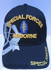 SPECIAL FORCES AIRBORNE Cap / Hat Military Blue New Free Shipping