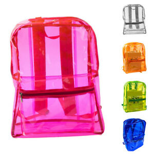 Women Transparent Adult Kids Backpack Student Sports School Travel Bags Newly