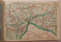 Map Vintage Soviet USSR Map Railways USSR Directions and station 1965