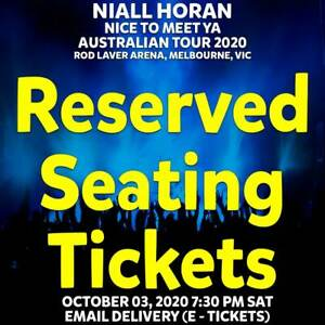NIALL HORAN | MELBOURNE | RESERVED SEATING TICKETS | SAT 03 OCT 2020 7:30PM