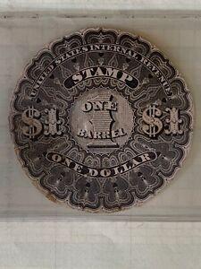 $1 1866 Beer stamp Scott # REA5 US IRS TAX REVENUE