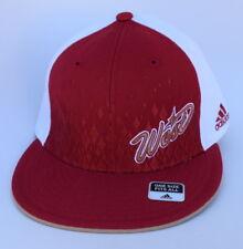 NWT NBA West One Size Fits All adidas Stretch Fit Flat Bill Baseball Cap Hat