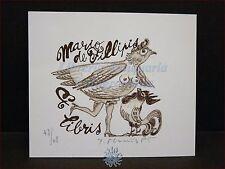 EROTICA - Ex-Libris Originale Firmato Donna Gallina e Gallo, Mario De Filippis