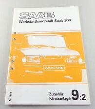 Manuel D'Atelier Saab 900 Équipement, Climatisation Année-modèle de 1984