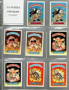 1985 Topps Garbage Pail Kids UK Mini Series 1 Complete Set A & B - 2x ADAM BOMB