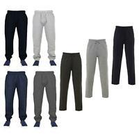Mens Open Hem Jogging Bottom Fleece Joggers Casual Zip Pockets Trousers UK S-5XL