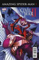Civil War II Amazing Spider-Man Comic Issue 1 Limited Variant Modern Age 2016