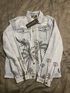 Culture Kings Criminal Damage Palm Denim Jacket Blue Size 2XL BRAND NEW WITH TAG