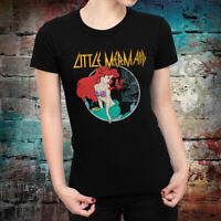 Ariel The Little Mermaid Rock Disney T-Shirt, Disney Metal Women's Tee