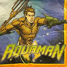 AQUAMAN LUNCH NAPKINS (16) ~ Birthday Party Supplies Serviettes Dinner DC Comics