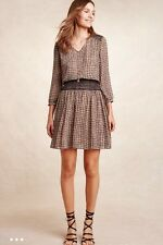 NEW Anthropologie Daytripper Dress Sz M 8 10 Medium Brown Vanessa Virginia