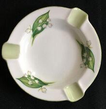 Lily of the Valley Shelley Fine Bone China England Ashtray Green White Ash Tray