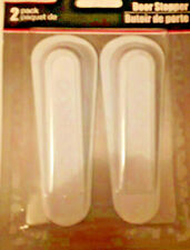 RUBBER  Wedge Door Stoppers 4 INCH 2 PACK White