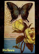 Butterfly & Magnolia Wedding Reception/Shower Paper Napkins-Blue-Yellow-32ct