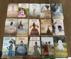 LOT de 15 Livres BARBARA CARTLAND roman amour historique