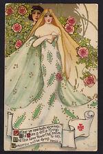 c1908 Schmucker Fairy Queen series Youth's Garden by Herrick Mottoes postcard