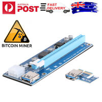 6Pin PCI-E1X to 16X Extender Graphic Riser Card Adapter Cable for BTC Miner #JT1