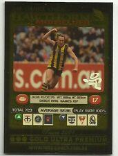 2001 AFL TEAMCOACH GOLD PRIZE CARD HAWTHORN DANIEL CHICK #241 CARD