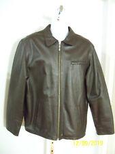 Massini Men's Brown Leather Jacket  L   NWOT