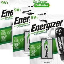 3 x Energizer 9V PP3 Block 175 mAh Rechargeable Batteries HR22 6LR61 HR9V DC1604