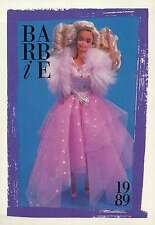 "Barbie Collectible Fashion Trading Card  "" SuperStar Barbie ""  Star Boa 1989"