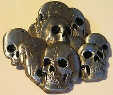 Pile of Skulls Skullpile Stack Belt Buckle to attach to own belt New