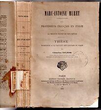 CHARLES DEJOB MARC ANTOINE PARED UN PROFESOR EN ITALIA RENACIMIENTO 1881 TESIS