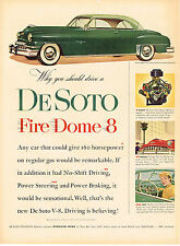 Vintage 1952 Magazine Ad DeSoto Fire Dome 8 Driving Is Believing Sensational