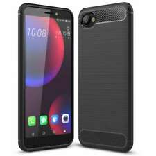 For HTC Desire 12 Case AMZER Rugged Shockproof TPU Cover Carbon Fiber Design